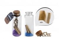 Staklena flašica sa zatvaračem od plute za želje