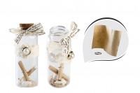 Staklena flašica sa zatvaračem od plute za pozivnice