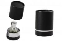 Kartonska crna cilindrična kutija za bočicu 100x75mm