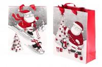 Божична торба за поклоне са ручком 195к80к235 мм - 12 ком