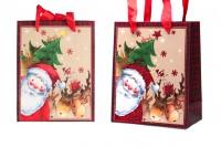 Божићна торба са црвеном сатенском траком за ручку 140к70к170 мм - 12 ком