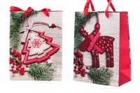 Божична торба за поклоне са ручком 180к90к230 мм - 12 ком