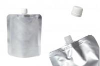 Aluminijumska DoyPack kesa 300ml sa plastičnim belim navojnim zatvaračem- 50 komada