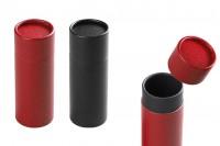 Cilindrična kutija ( crna unutra ) 54x145 mm  za bočice- 12kom