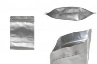 Aluminijumske DoyPack kesice 120x40x170 mm sa zip zatvaranjem i mogućnošču termo lepljenja- 100kom