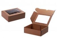 Kraft kutija za pakovanje sa prozorom 230x180x70 mm - 20kom