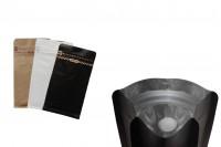 Aluminijumske DoyPack kese sa kraft spoljnom oblogom,sa ventilom i zipom 95x55x185- 25kom