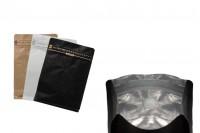 Aluminijumske DoyPack kese sa spoljnom kraft oblogom, sa ventilom i zipom 125x65x195- 25kom