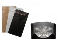 Aluminijumske DoyPack kese sa kraft spoljnom oblogom, sa ventilom i zipom 135x80x225- 25kom