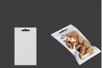 Plastične zip kesice 80x138mm, belom zadnjom, providnom prednjom stranom i eurohole otvorom- 100kom