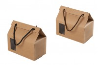 Kutijica – torbica kraft sa prozorom i ručkicm 180x100x160 – 12 komada