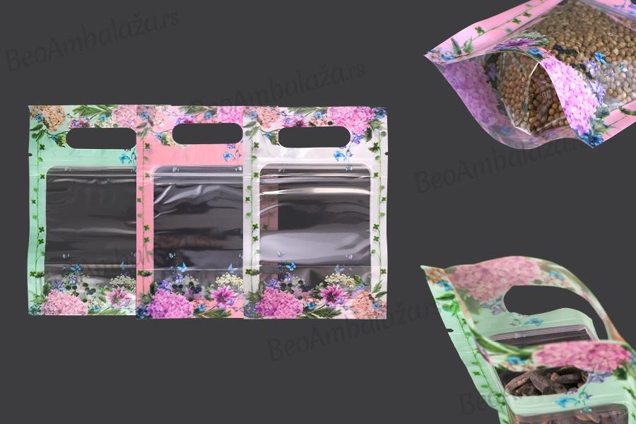 Providne DoyPack kesice 100x35x150mm sa zip zatvaranjem i mogućnošću termo lepljenja– 50kom