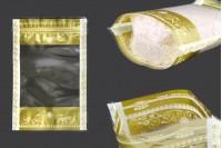 Providne DoyPack kesice 160x40x240mm sa zip zatvaranjem, transparetnom prednjom stranom i mogućnošću termo lepljenja– 50kom