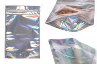 Aluminijumske DoyPack kesice 200x50x300 mm sa zip zatvaranjem, transparetnom prednjom stranom i mogućnošću termo lepljenja– 50kom