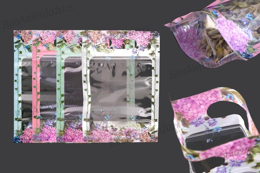 Providne DoyPack kesice 120x35x180mm sa zip zatvaranjem i mogućnošću termo lepljenja– 50kom