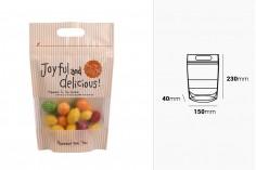 DoyPack kesice 120x35x180mm sa printom, zip zatvaranjem i mogućnošću termo lepljenja– 50kom