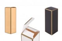 Kartonska kutija 38x38x116 mm sa zlatnim ivicama- 20kom