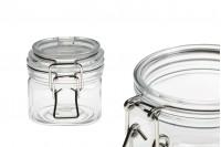 Plastična PET providna teglica  220 ml sa žičanim mehanizmom