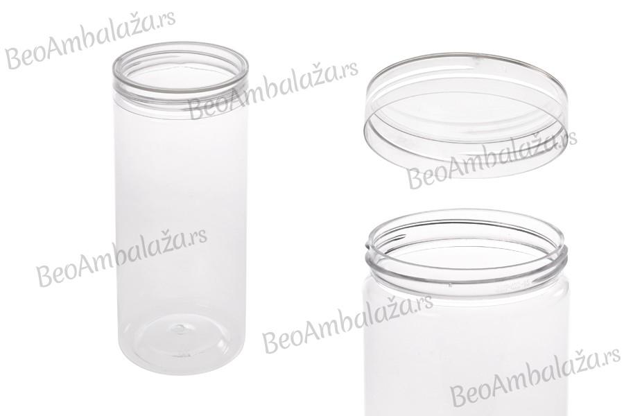 Teglica 410 ml plastična (PET) 65X100 mm  sa providnim poklopcem – 6 kom