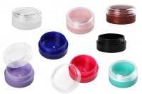 Kutijica akrilna 3 ml sa providnim poklopcem u različitim bojama – 12 kom